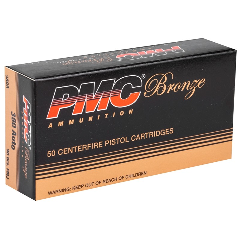 .380 ACP FMJ 90 Grain-PMC Bronze