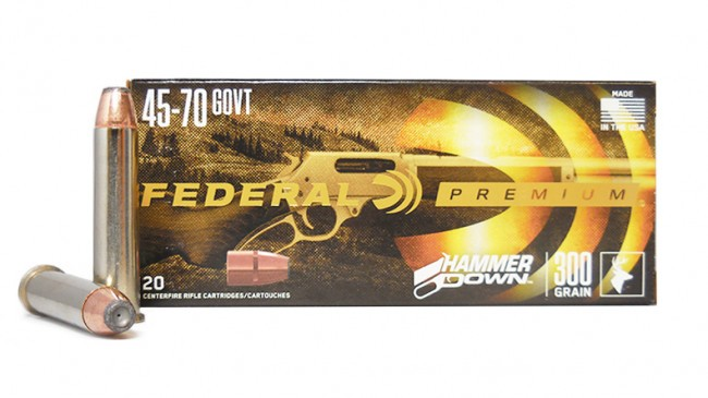 45-70 GOVT 300 Grain Jacketed Hollow Point Federal Premium Hammer Down