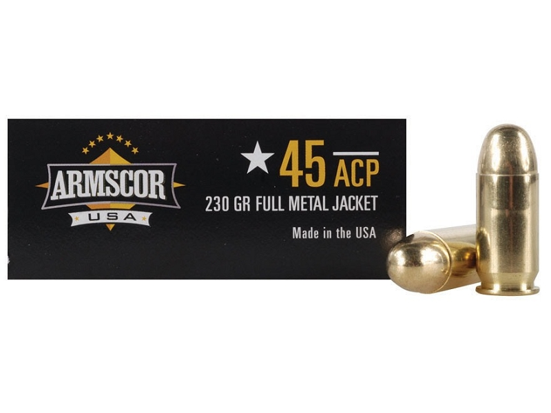 .45 ACP 230 Grain FMJ Armscor 50 Rounds