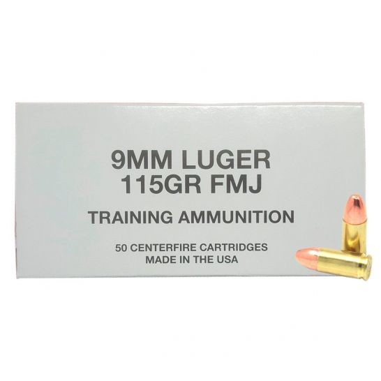 9mm Luger 115 Grain Training Ammo CCI-50 Rounds