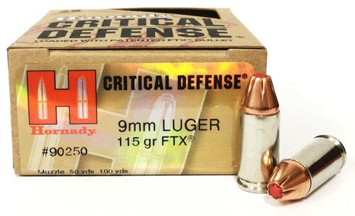 9mm Luger 115 Grain JHP-Hornady Critical Defense